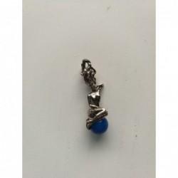 Hanger zeemeermin blauwe bol