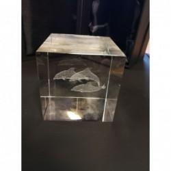 Glaswerk 3 dolfijnen