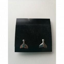Oorbellen walvisvin silver